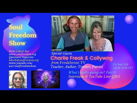 Charlie Freak & Collywog What's really going on? (Part 3) Live interview with Lokesh