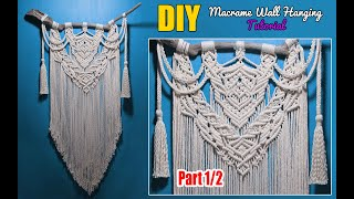 Diy Large Driftwood Macrame Wall Hanging Tutorial | Boho Style Free Pattern By Lit Decor (part 1/2)