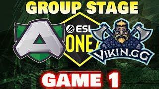 ALLIANCE VS VIKIN.GG Game 1 ESL One Hamburg 2019 Dota2