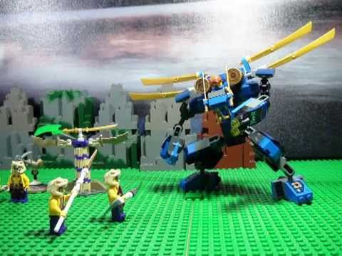LEGO NINJAGO 2015 PART 3 JAY V'S CHOPE, ELECTRO MECH, FIRST BATTLE ON YOUTUBE