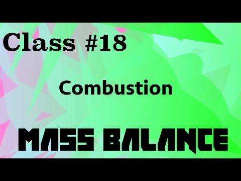 Combustion // Mass Balance Class 18