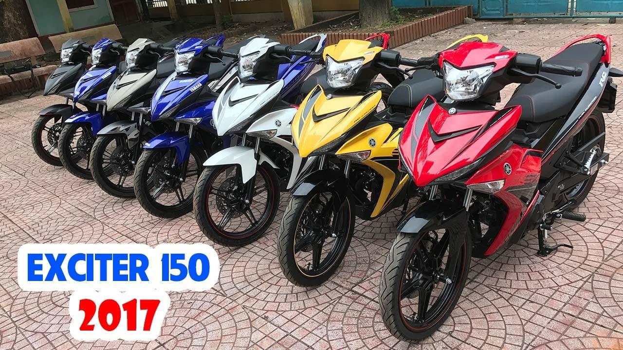 Yamaha Exciter 150cc 2017 ▶ Tổng hợp các màu sắc xe!