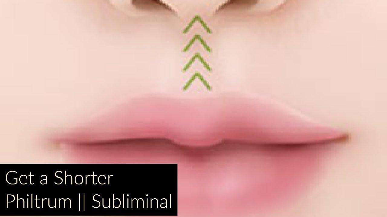 Get a Shorter Philtrum || Subliminal