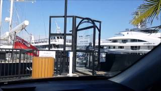 Today's Biggest $$$Million Yacht with a Helicopter in Marina Del Rey Los Angeles driving Travel Tour