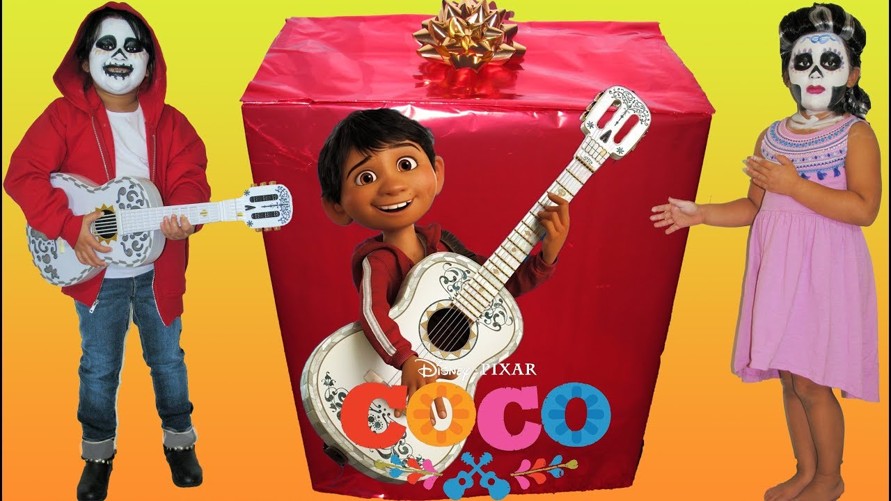 disney pixar coco makeup makeover halloween costumes and toys - youtube