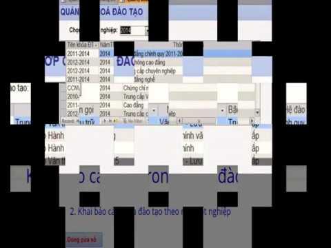 Phần mềm Quản lý-In văng bằng chứng chỉ bằng Access