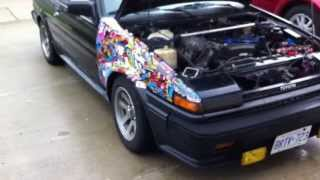 1987 Toyota Corolla AE86 Walkaround After Engine and Diff Swap