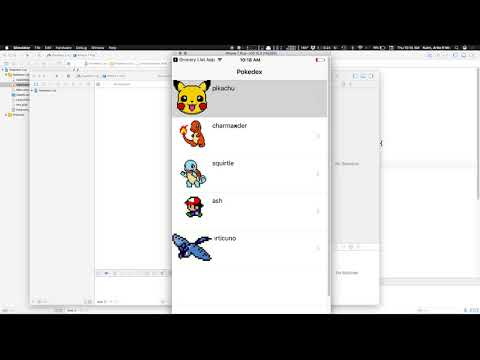 Custom tableviews and segues from tables  (pokedex example)