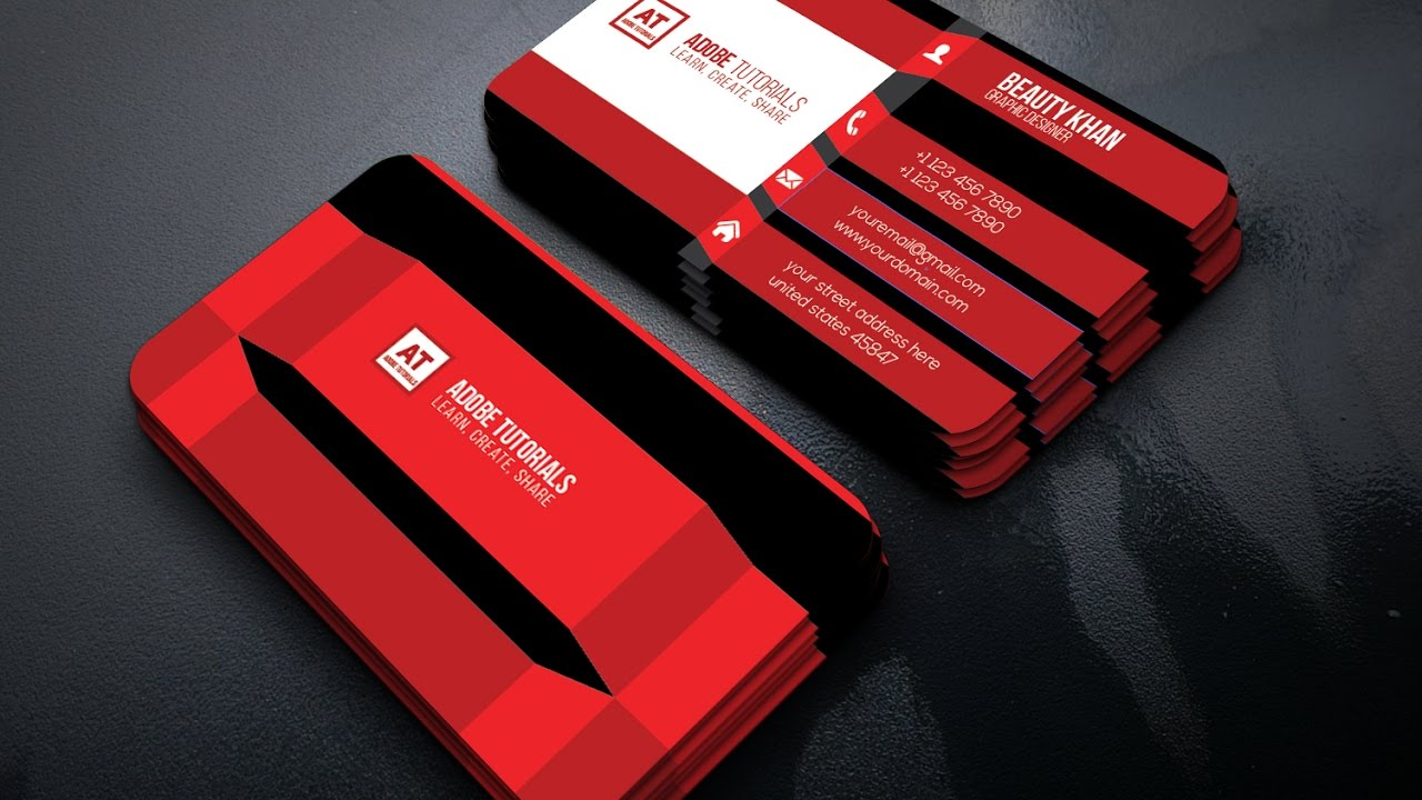 awesome creative business card design adobe tutorials youtube