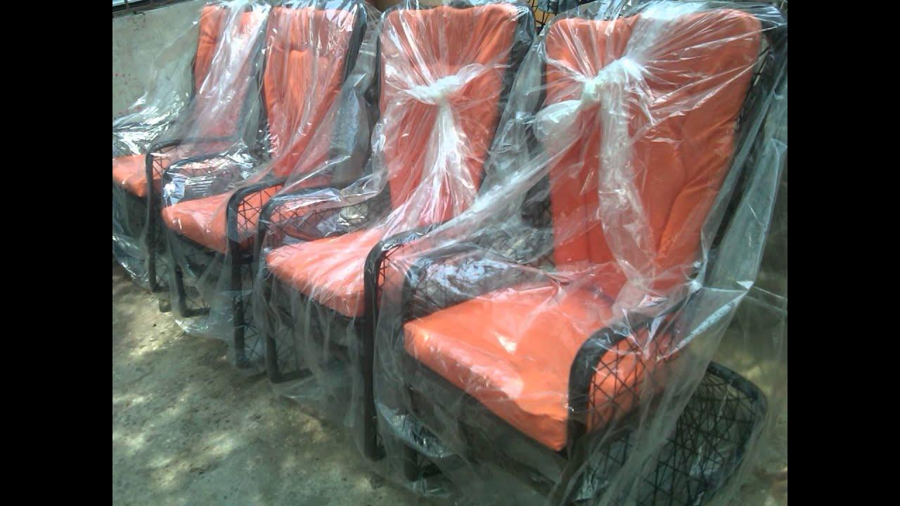 Mecedoras sillas en fibra de vidrio youtube for Muebles de fibra de vidrio