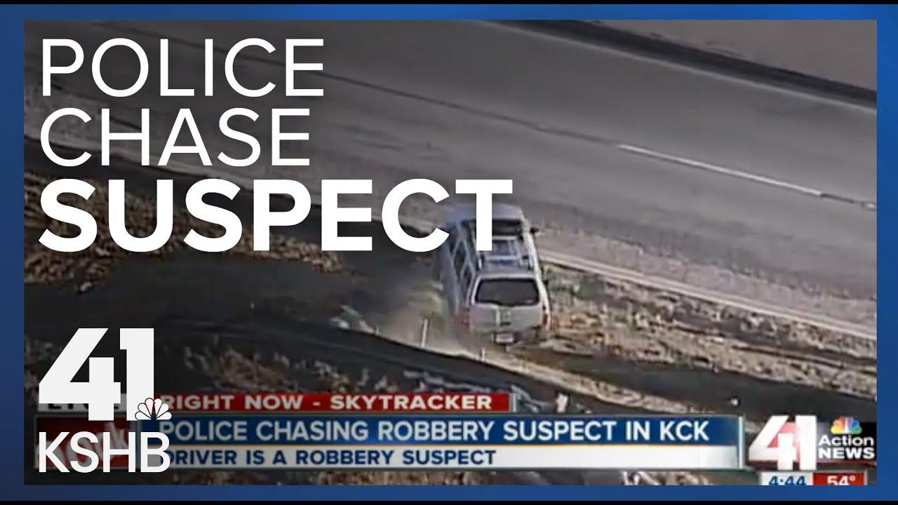Robbery suspects lead authorities on high-speed chase through Kansas City, Kansas