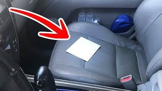Если вы увидите в своей машине конверт, то вы в опасности