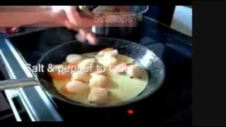 """coquilles St. Jacques"" - Scallops With Spinach  - ""c'est Si Bon""  Series- Cooking With Dad"