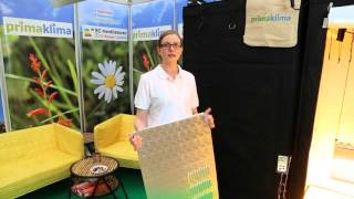 Prima Klima Yield Panel live @ Cultiva2015 - additional reflector sheets YieldPanel