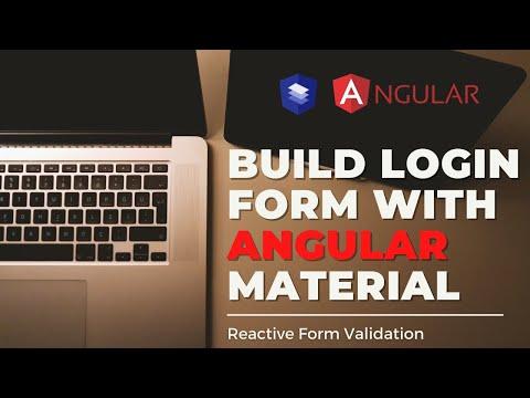 Build Simple Angular Material Login Form UI   Reactive Form Validation