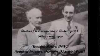 Brahms Piano concerto 2 Toscanini, Arturo: NBC Symphony Orchestra. Horowitz, Vladimir