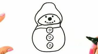 Рисуване на снежен човек. Лесни рисунки за деца.