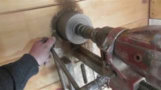 Практика №7.2. Дымоход в деревянной стене. Диаметр 120 мм. HILTI DD 100.