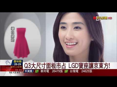【非凡新聞】Q3大尺寸面板市占 LGD寶座讓京東方!