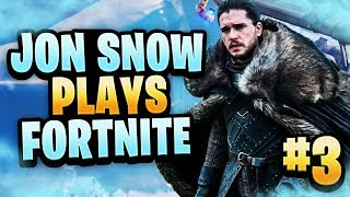 "Jon Snow (Game Of Thrones) Plays Fortnite #3 - ""IS THAT A VOICE CHANGER?!"""
