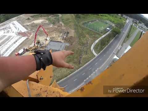 видео: башенный кран liebherr 112 координатная защита на контакторном кране !
