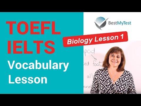 TOEFL Vocabulary Lesson: Biology 1