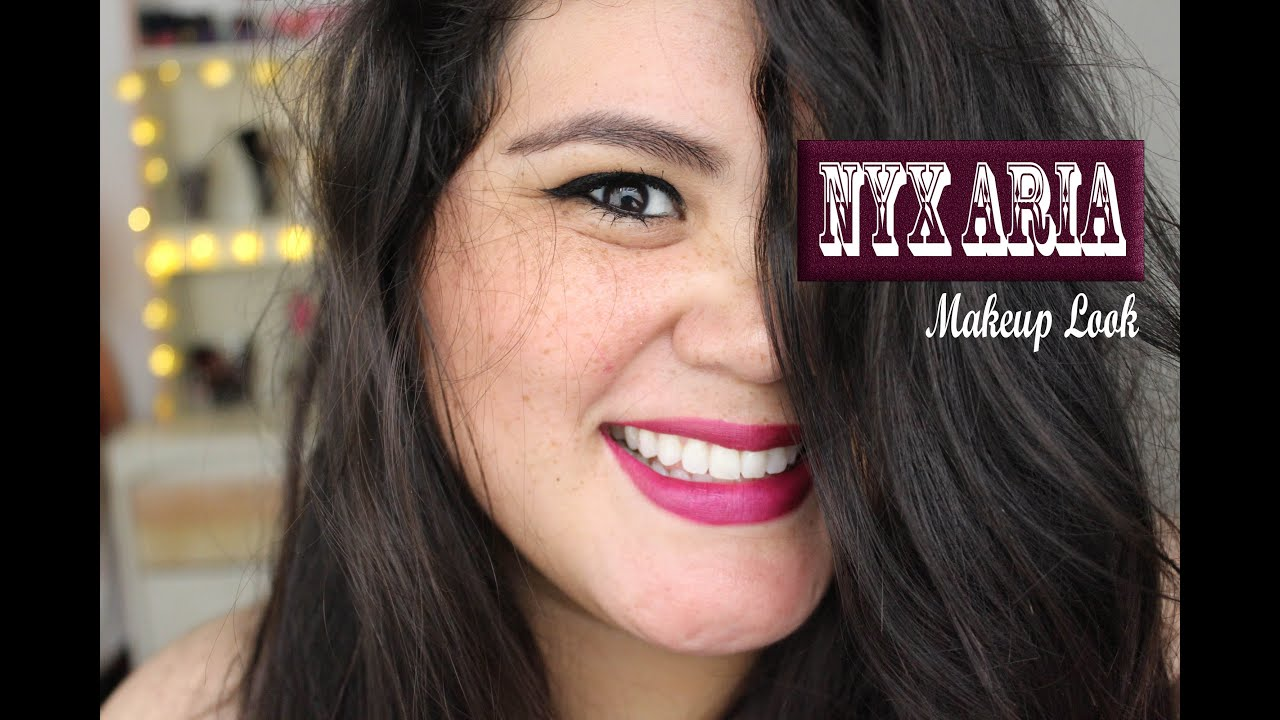 💋 Makeup Look: NYX matte lipstick Aria 💋 - YouTube