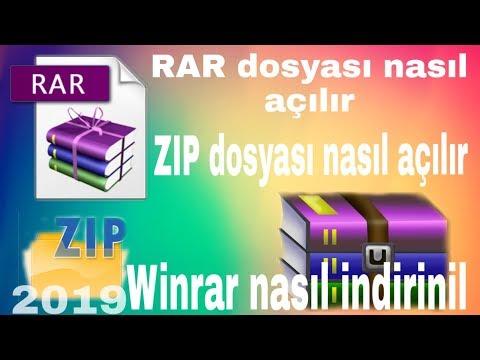 rar dosyası nasıl açılır /winrar nasıl indirilir(türkçe anatım )