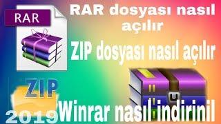 RAR/ZIP dosyası nasıl açılır /winrar nasıl indirilir(türkçe anatım ) thumbnail