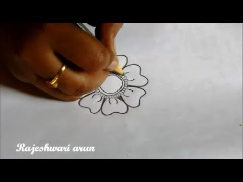 how to draw a simple mandala design with pencile * simple floral designs for beginners