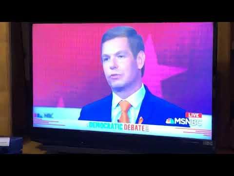 "Eric Swalwell Says To Joe Biden ""The Future Is Now"" At Dem Debate 2"