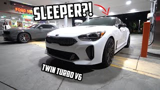 KIA Stinger GT wanted to RACE my Challenger SRT 392!