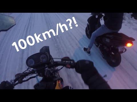 Mopeder VS vintern (snow drifting 2020)