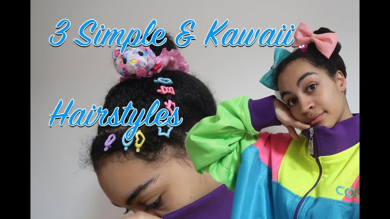 3 Kawaii Hairstyles For Curly Hair