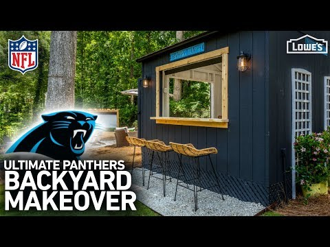 NFL Homegating Makeover: Carolina Panthers (w/ Monica from The Weekender)