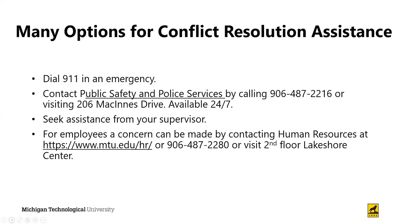 Preview image for Options for Conflict Resolution video