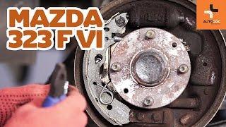 Cum se înlocuiesc tamburi de frână din spate și saboți de frână pe MAZDA 323 TUTORIAL | AUTODOC