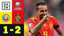 Paco Alcacer sichert Spanien den Sieg: Rumänien – Spanien 1:2 | EM-Quali | DAZN Highlights