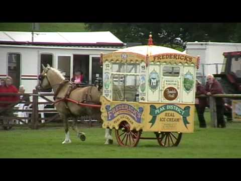 Horse-drawn Frederick's ice-cream float at Bakewell Show 2010