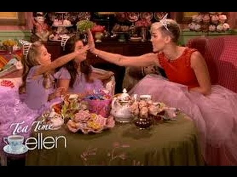 Tea Time with Sophia Grace & Rosie and Miley Cyrus! on ellen show