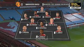 Manchester United vs Aston Villa 0-1 Extended Highlights & Goals   Club Friendly 2020