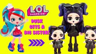 LOL SURPRISE Dusk Gets A Big Sister DIY Shopkins Shoppie Doll Jessicake Custom Makeover