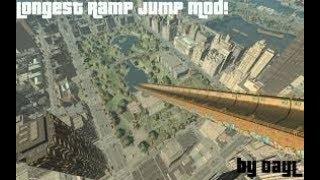 GTA 4 : CRASHING MCQUEEN IN THE LONGEST RAMP