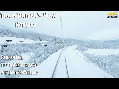 TRAIN DRIVER'S VIEW PREMIERE: Heavy Delays On The 110th Anniversary For The Bergen Line