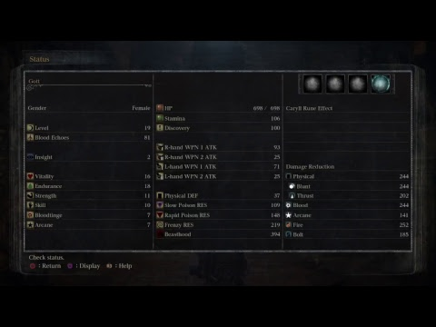 Bloodborn How to behave n' play 1