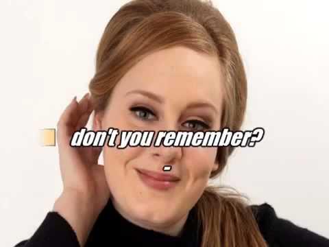 Adele Karaoke Don't You Remember Karaoke