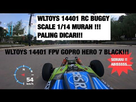 Фото RC CAR BUGGY WLTOYS 144001 Test drive/unboxing/top speed dan FPV peke GOPRO HERO7!! SERU ABIS!!!