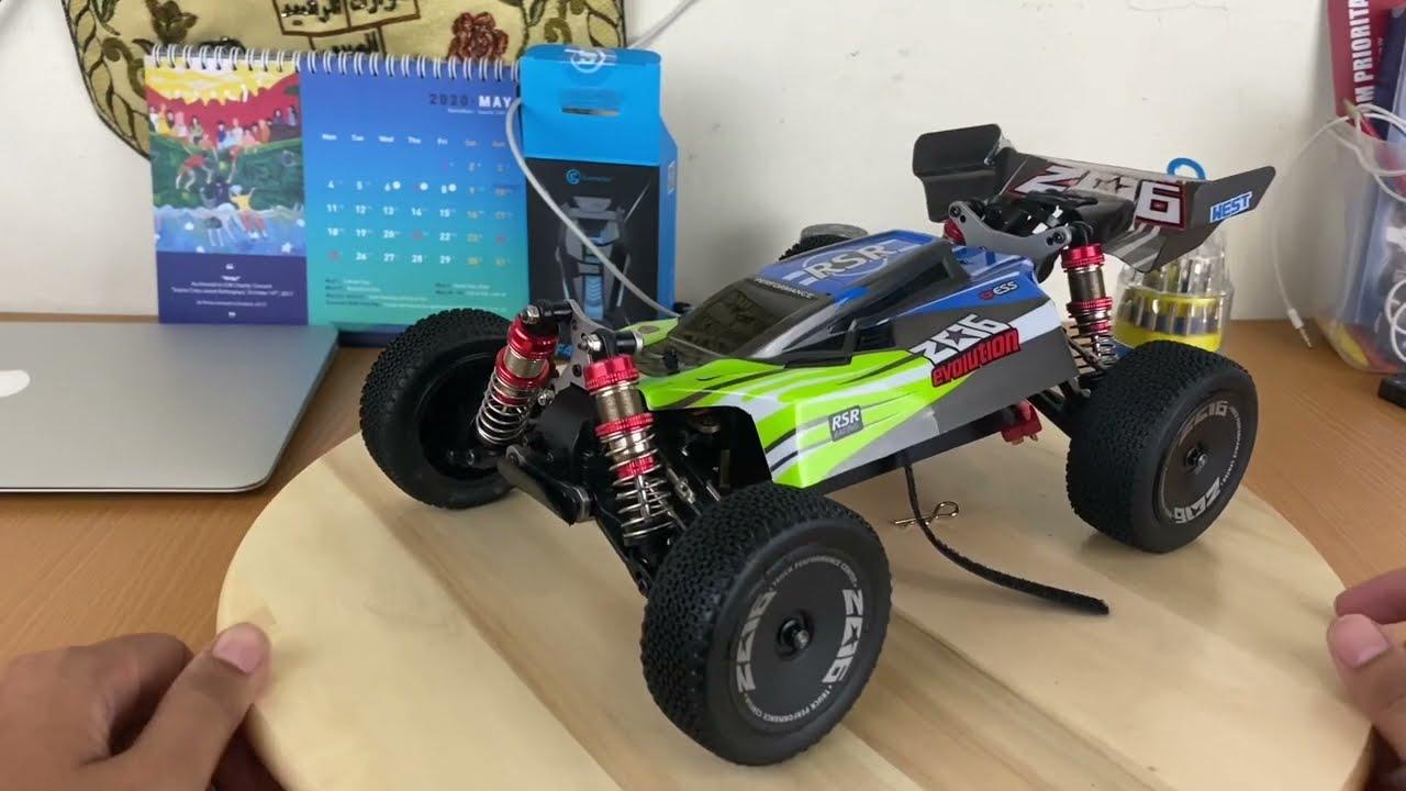 RC CAR BUGGY WLTOYS 144001 Test drive/unboxing/top speed dan FPV peke GOPRO HERO7!! SERU ABIS!!! фото