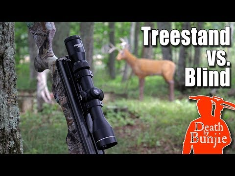 CROSSBOW AIMING From TREESTAND Vs BLIND