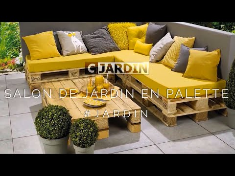 SALON DE JARDIN EN PALETTE - YouTube